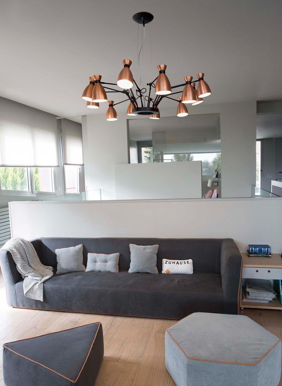 L mpara de techo cobre 12 luces retro ambiente l mparas - Lamparas de ambiente ...
