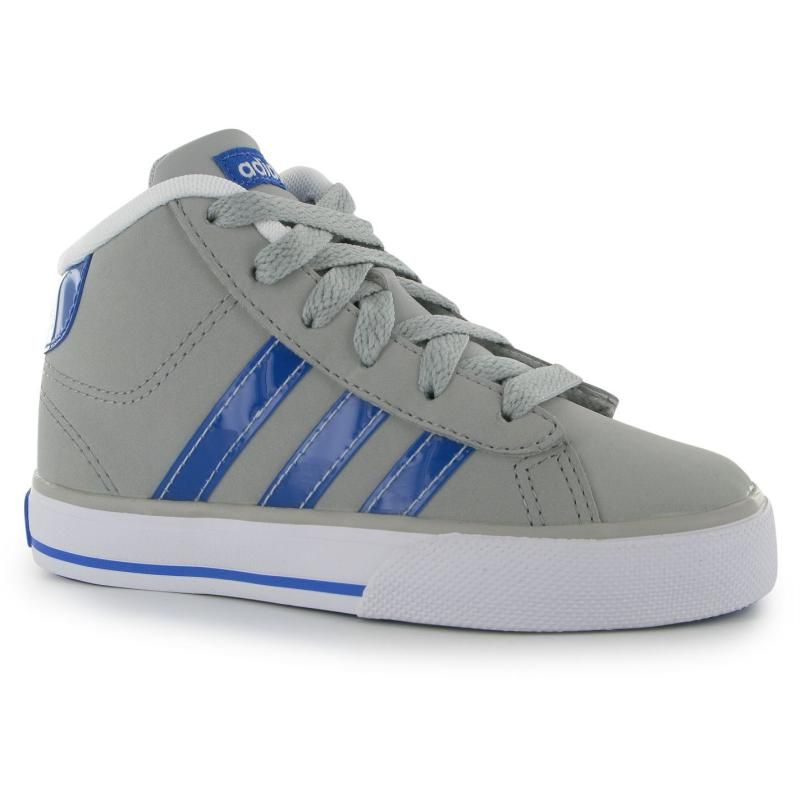 Boty adidas Daily Mid Childrens Trainers LtOnix/Sat/Wht Velikost ...