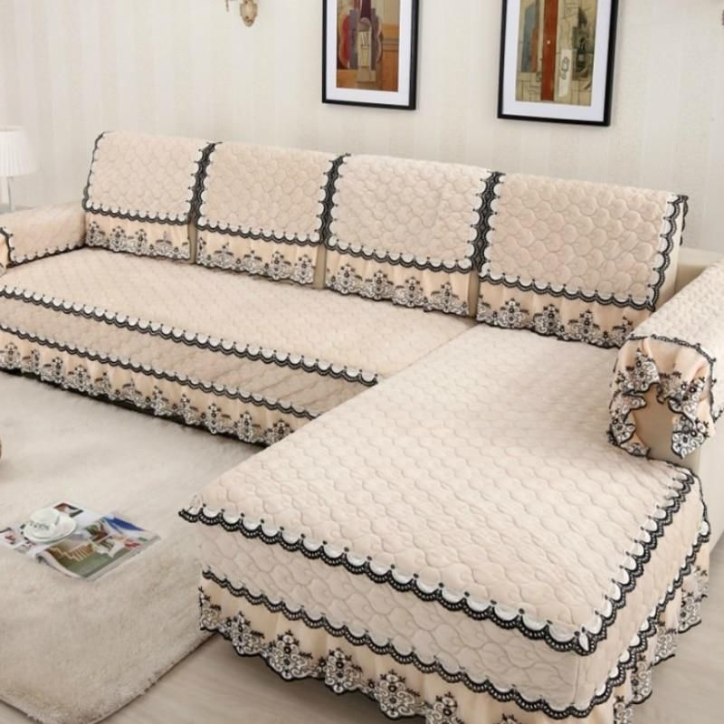 Multi Size Simple Design Sofa Cover With 4 Colors Solid Couch