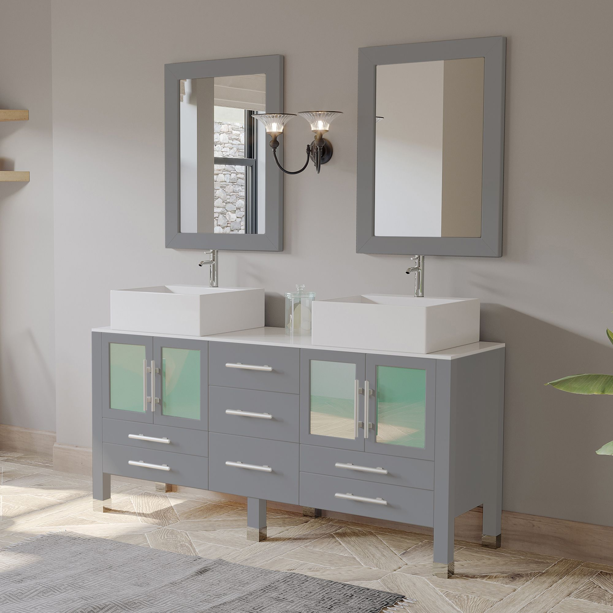 63 Contemporary Bathroom Vanity Bathroom Sink Vanity Modern Bathroom Decor