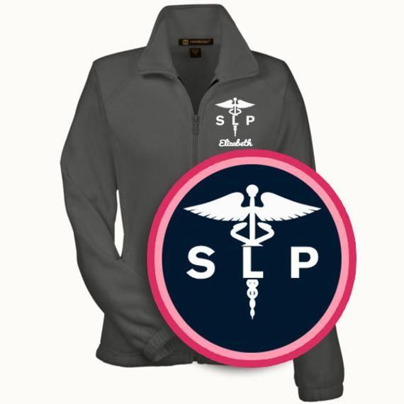 Speech Language Pathologist Fleece Jacket / SLP Gift/SLP