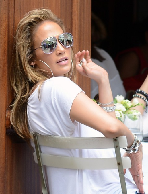 442cc7335a89 Her sun glasses. Jennifer Lopez spotted in in our DITA Condor-Two frame.  May 2014