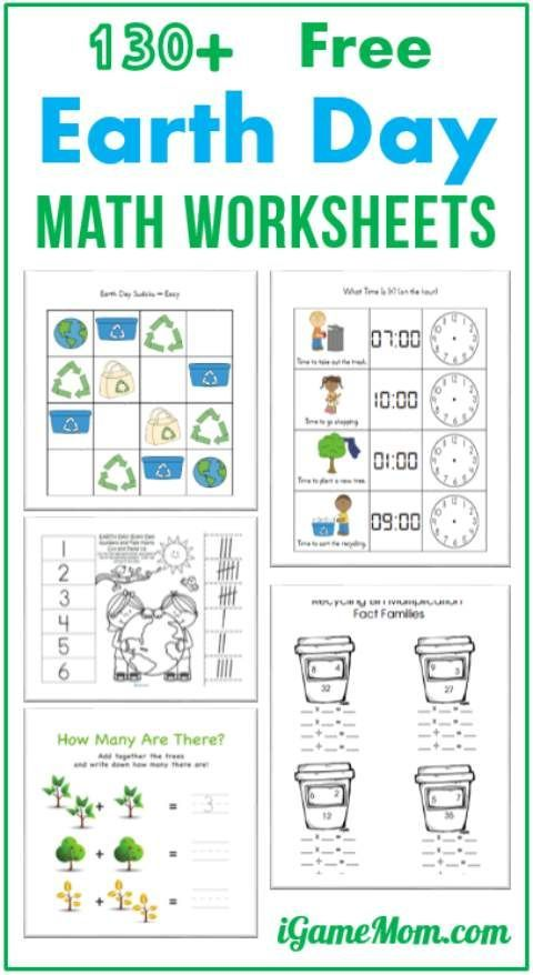 130 Free Earth Day Math Printable Worksheets For Kids With