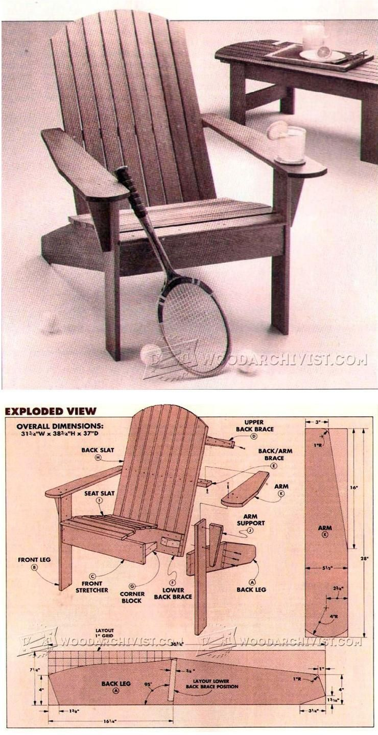 Adirondack Chair Plan - Outdoor Furniture Plans & Projects ...