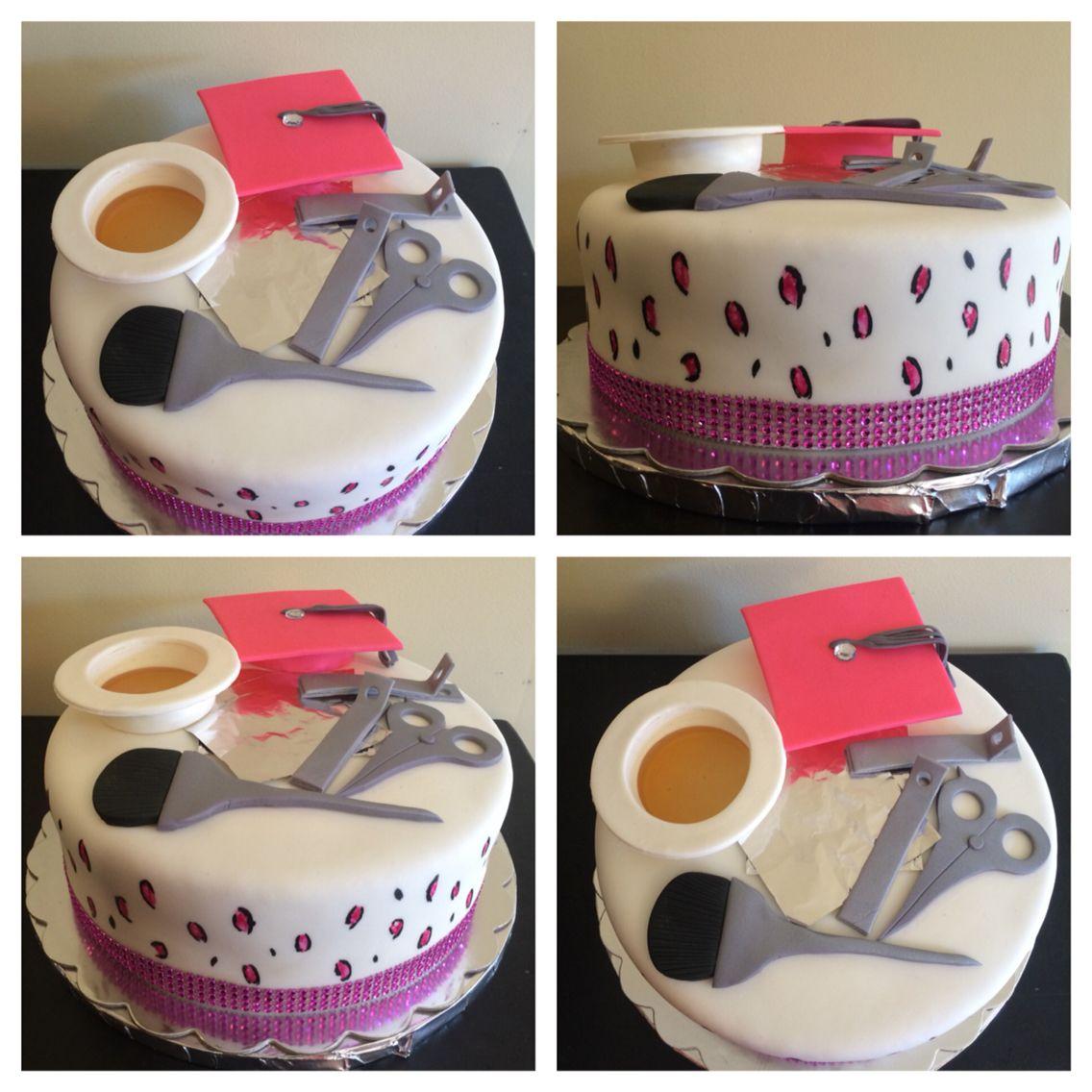 Fantastic Cosmetology Cake With Images Cosmetology Cake Graduation Personalised Birthday Cards Akebfashionlily Jamesorg