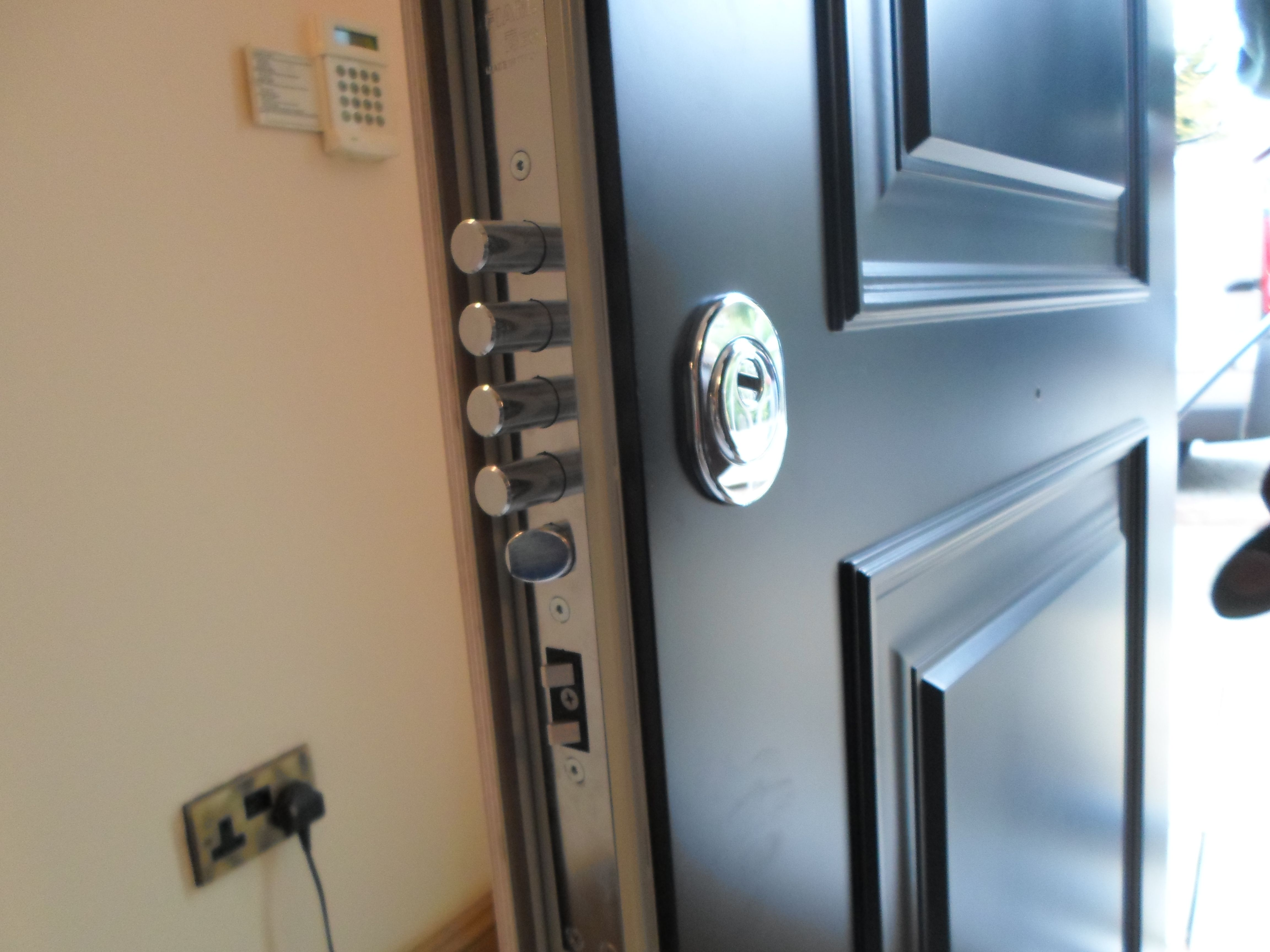 Newly Installed High Security Door With Fingerprint Recognition