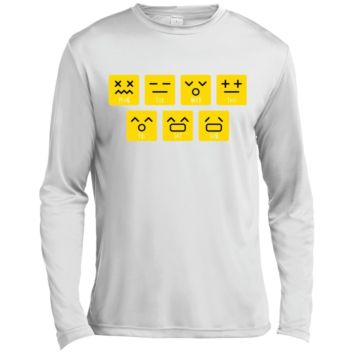 39ce5fbc Emoji T shirt Love Your Emoticon Shirt 7 Days A Week Long Sleeve Moisture  Absorbing Shirt
