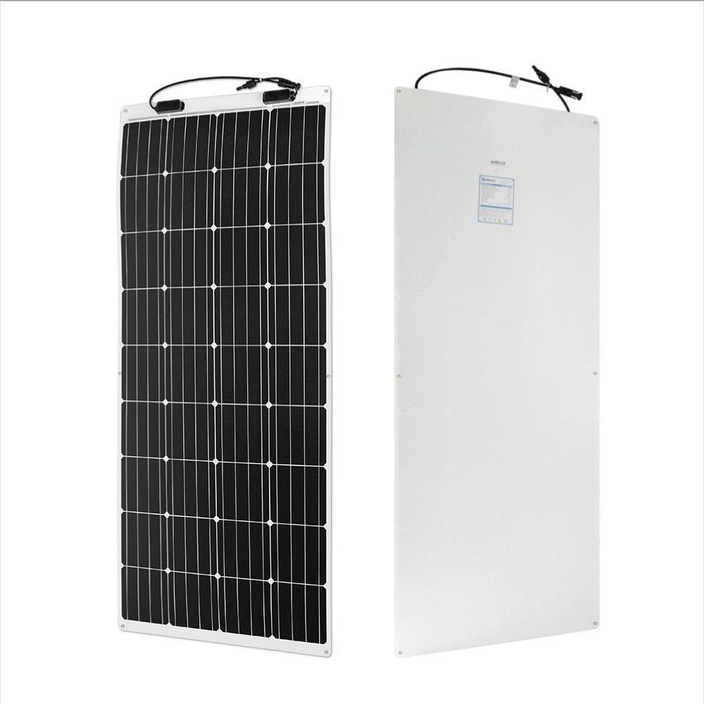200 Watt 12 Volt Monocrystalline Solar Starter Kit Flexible Solar Panels Solar Panels Monocrystalline Solar Panels