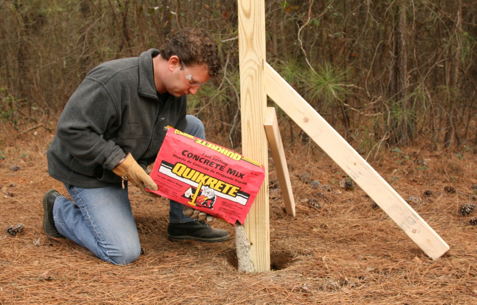 8 concrete diys to try fast setting concrete fence post