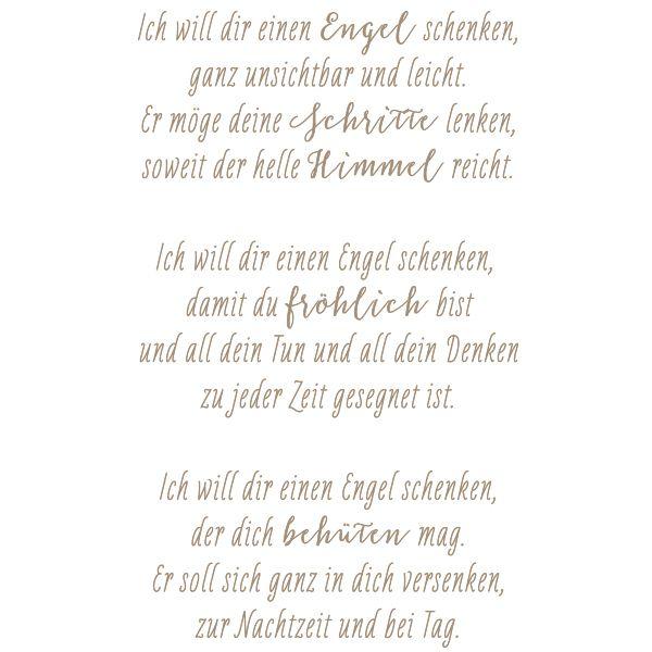 Stempel Ich Will Dir Einen Engel Schenken Spruch Engel