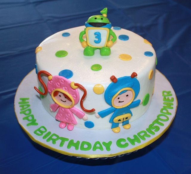 Team Umizoomi cake how do I get this for the twins 3rd birthday