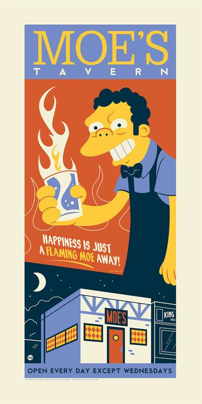 Moe's Tavern - The Simpsons - Dave Perillo