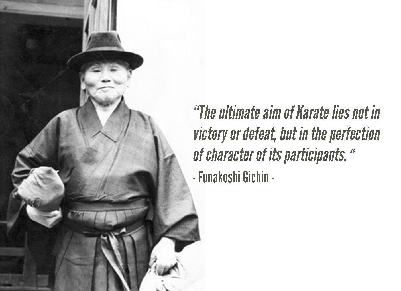 Afbeeldingsresultaat voor gichin funakoshi taekwondo