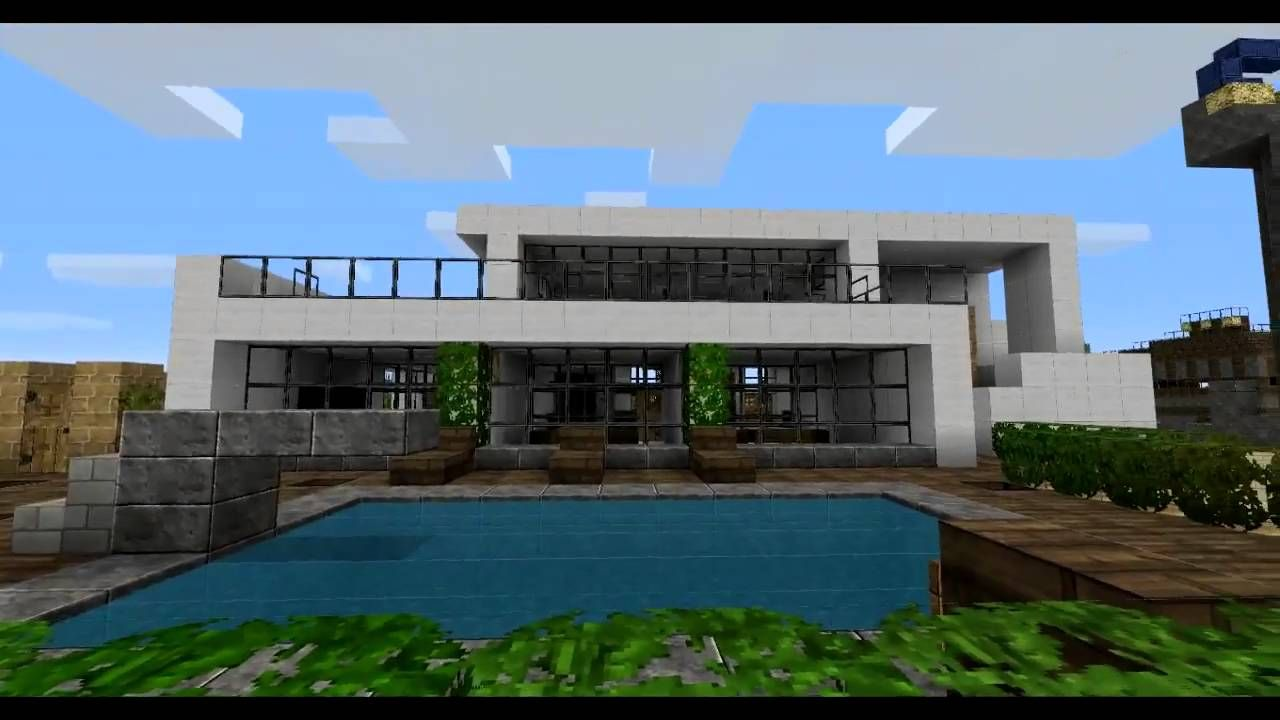 Minecraft Nice Modern House With Images Minecraft Modern Minecraft Houses Minecraft House Designs