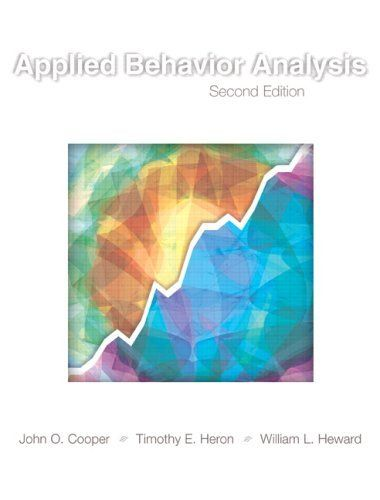 Applied Behavior Analysis Nd Edition By John O Cooper Http