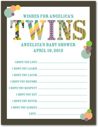 Baby Shower Games Baby Patterns Twin Front Dark Gray Twins