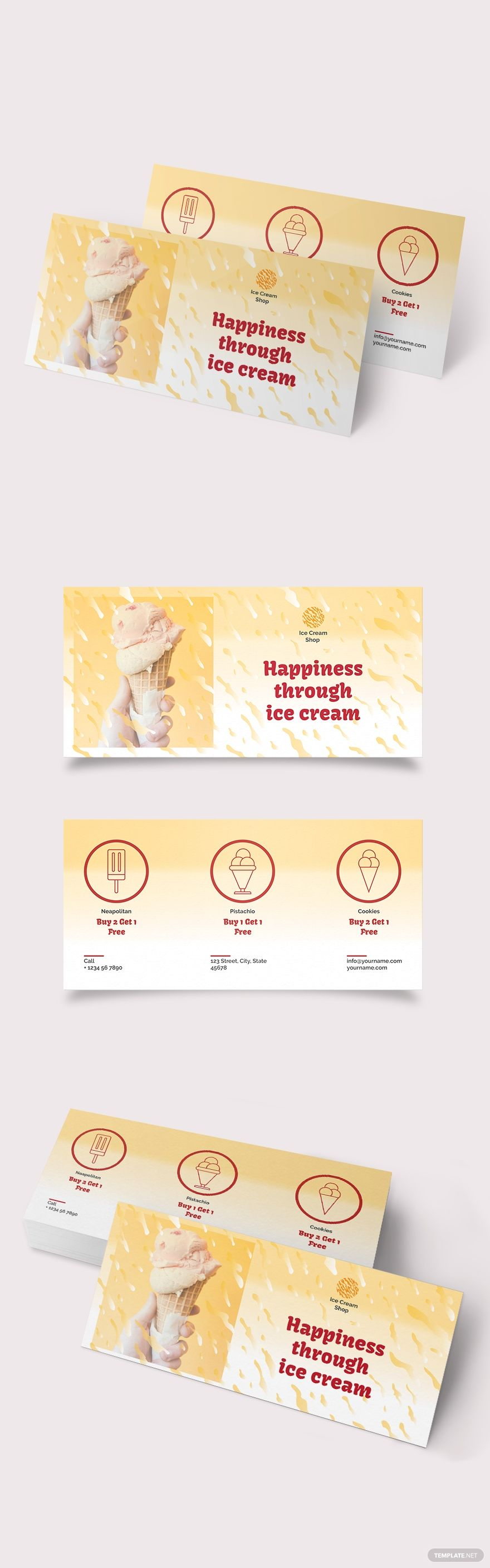 Ice Cream Coupon Template In 2020 Ice Cream Coupons Coupon Template Ice Cream
