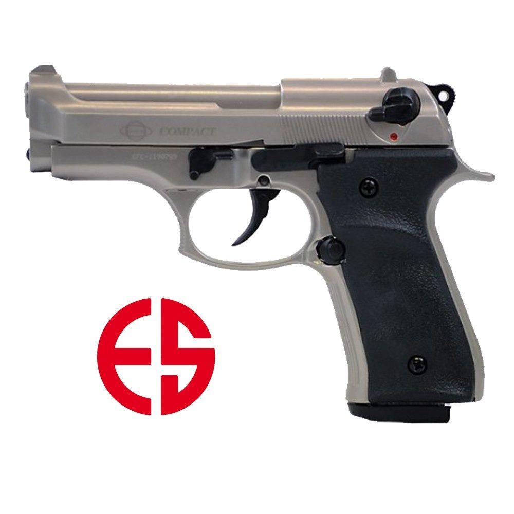 ekol compact vernickelt schreckschusspistole 9mm. Black Bedroom Furniture Sets. Home Design Ideas