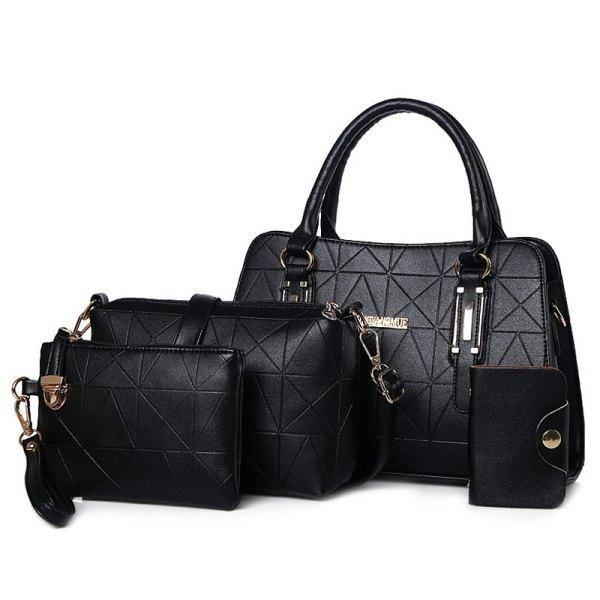 043f8c6931 RoseWholesale - Rosewholesale Geometric Handbag Set - AdoreWe.com ...