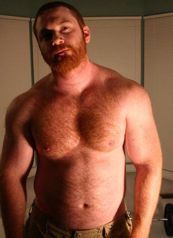 red head hairy bear