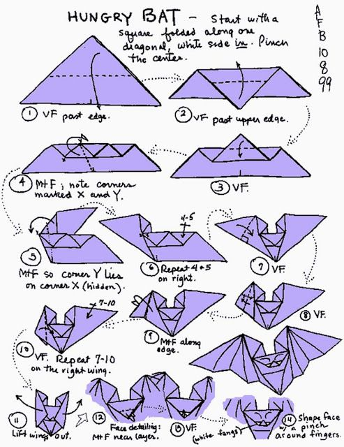 Fold A Cloud Of Bats With This Step By Origami Design Jill Mail