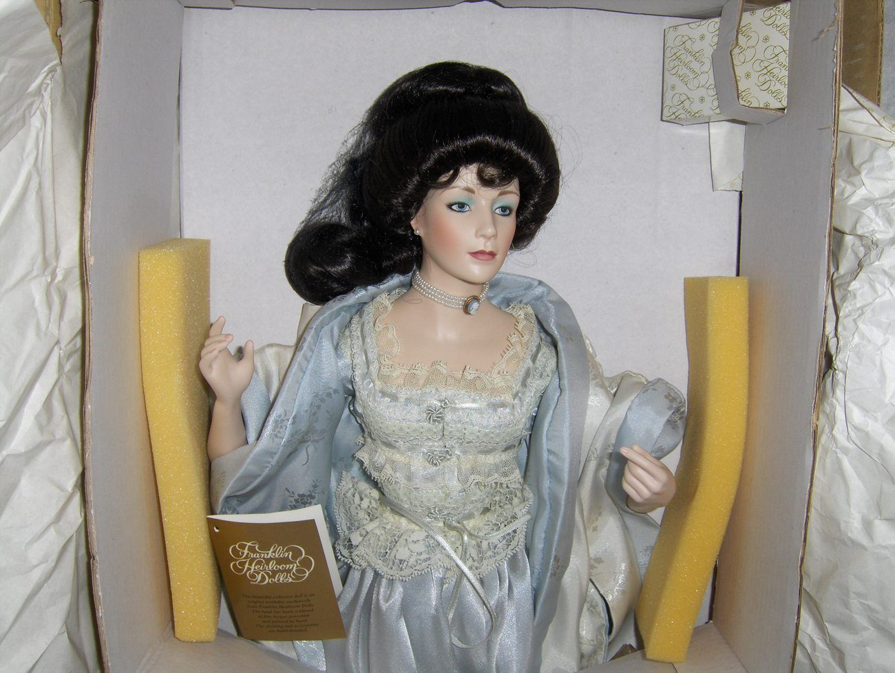 Franklin Mint Heirloom Gibson Girl Boudoir Doll Offered By