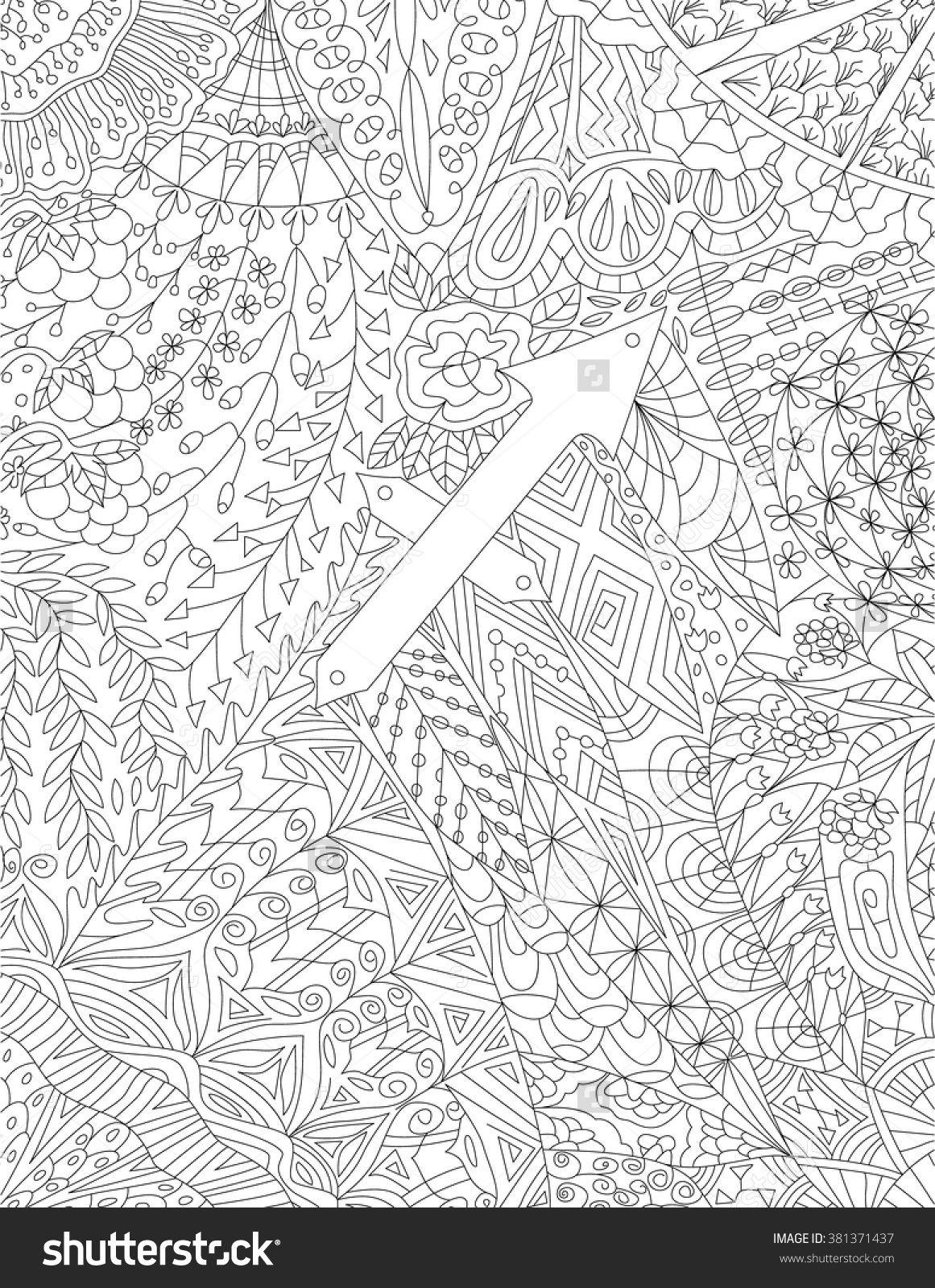 zodiac sign sagittarius floral geometric doodle pattern coloring