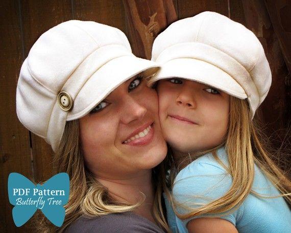 Newsboy Hat Sewing Pattern Combo - Reversible Unisex Infant, Child ...
