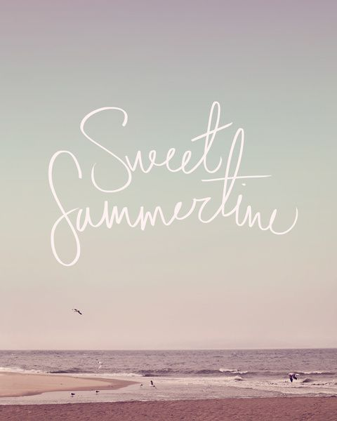 Funny Summertime Quotes: Sweet Summertime Art Print By Leah Flores
