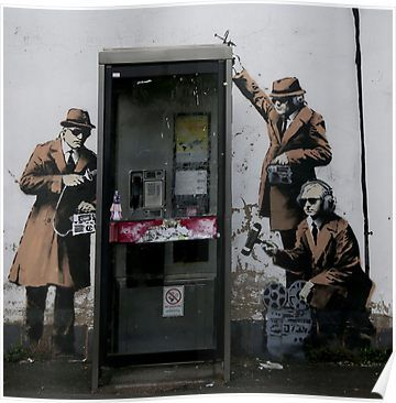 'Banksy Telephone Box' Poster by So Sorted Design