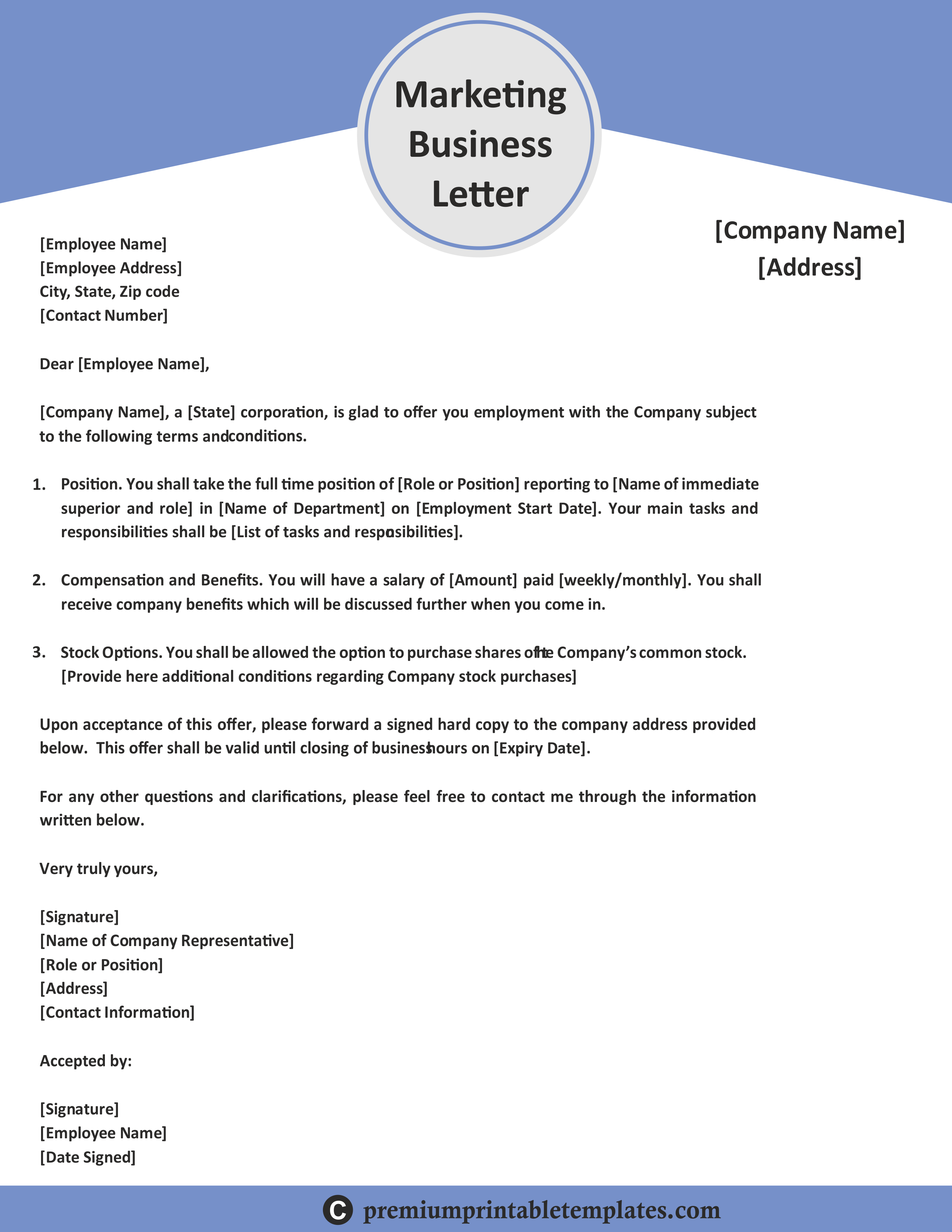 marketing business letter (with images) professional resume template free download general objective examples for experienced sample volunteer board position