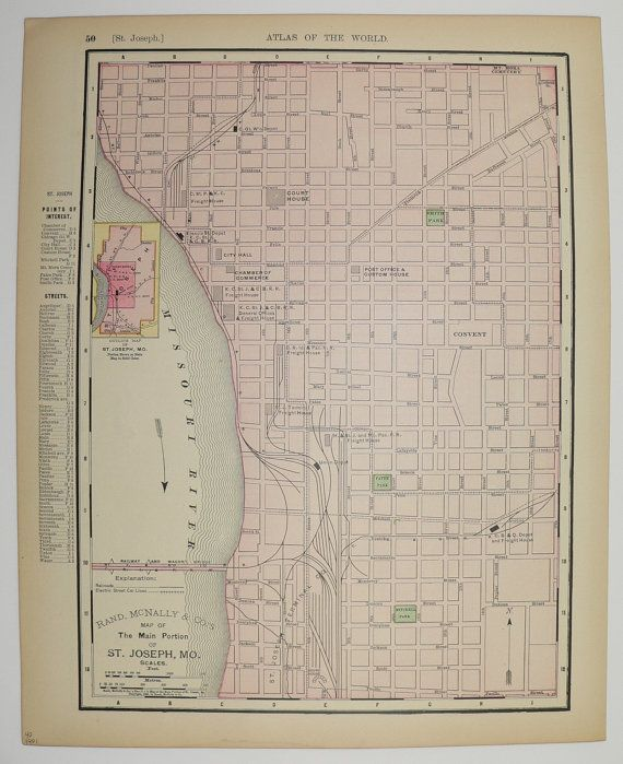 Antique St Joseph Map Vintage St Louis Map Missouri 1901 Old ... on city highway maps, city food maps, print city maps, local city maps, new york city maps, city map of illinois cities, metro city maps, city of jefferson city tennessee, city of temple tx maps, city of youngtown az map, city walking map boston, neighborhood maps, city lot maps, city streets of fort collins, road maps, city tourist maps, city state maps, city place maps, city of simi valley maps, city background,