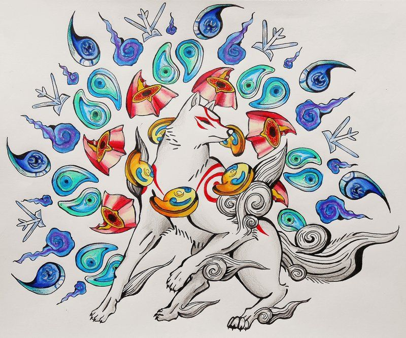 Okami Rosaries By Starbuxx On Deviantart Okami Amaterasu Art