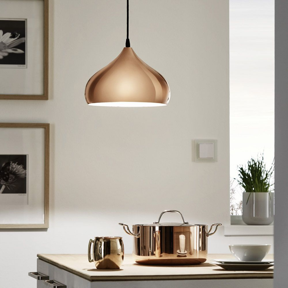 The Eglo Hapton Vintage Coppery Pendant Light Is A