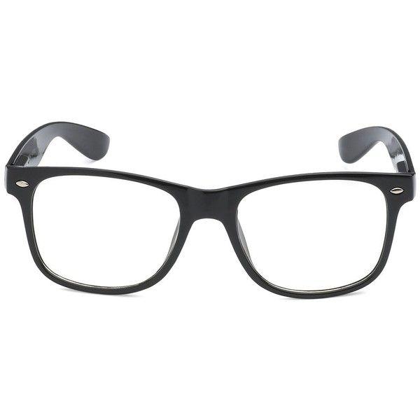 3744fff5a79 RETRO NERD Geek Oversized BLACK Framed Spring Temple Clear Lens Eye... ( 21