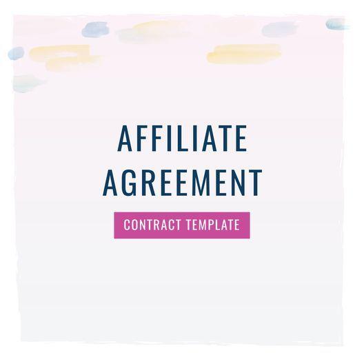 Affiliate Agreement Contract Template Creative Entrepreneurs