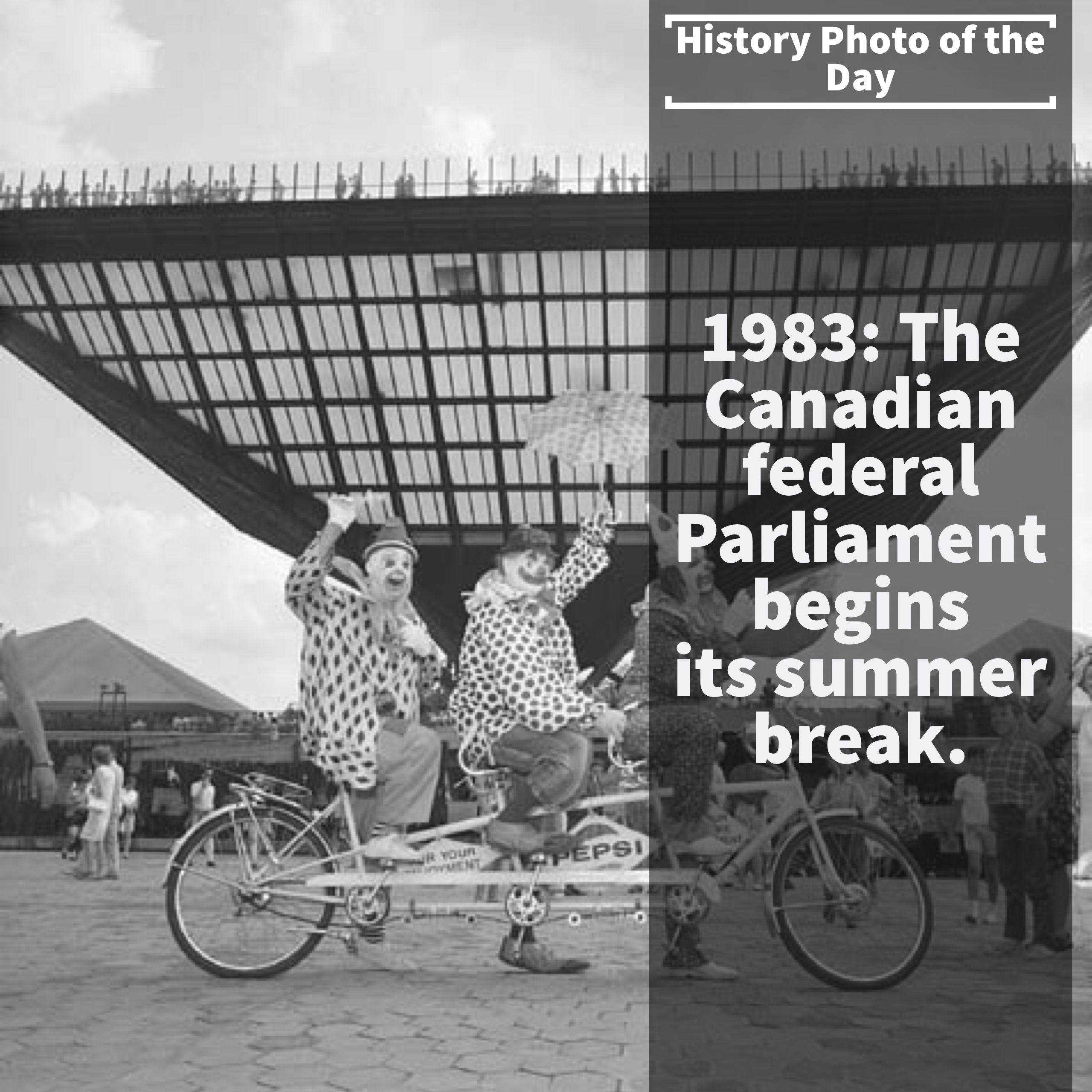 Canada 150 history photo of the say 3 too true fun fact