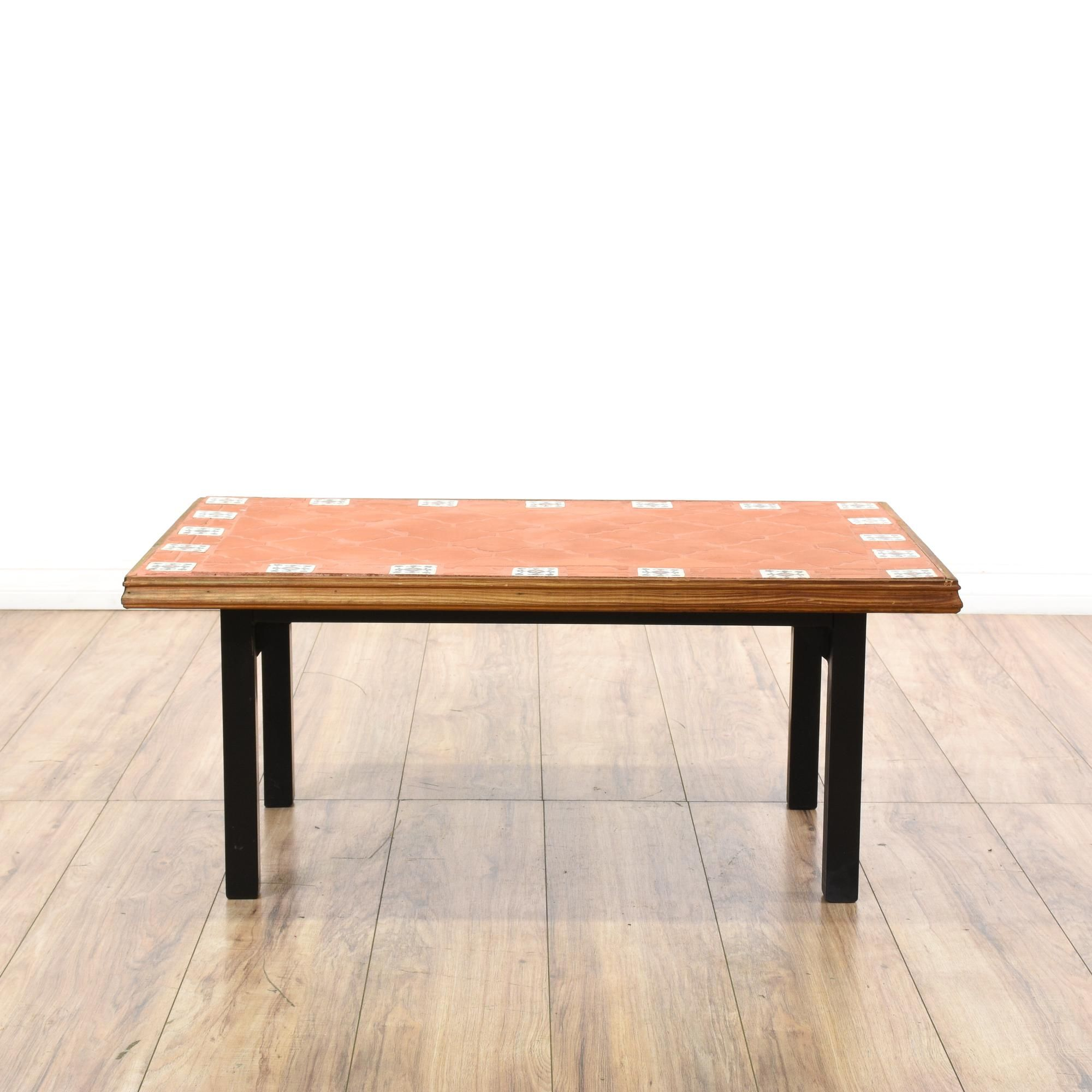 Bohemian terra cotta tile top coffee table geotapseo Gallery