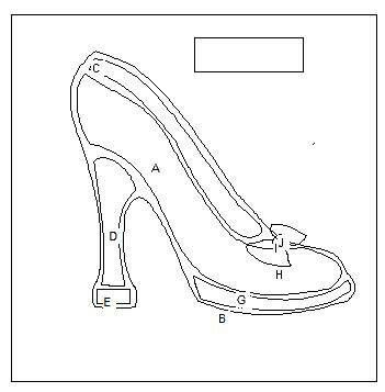 Pin by caren lee on pattern pinterest stenciling shoe crafts paper high heel shoe template how the templates are laid maxwellsz