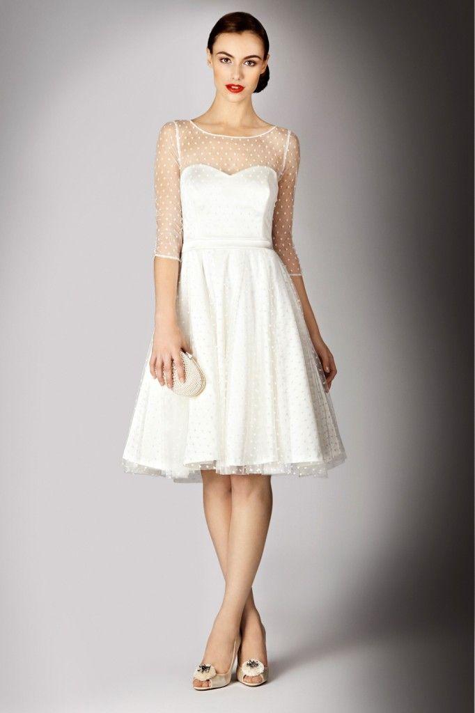 Vestido para boda civil vintage