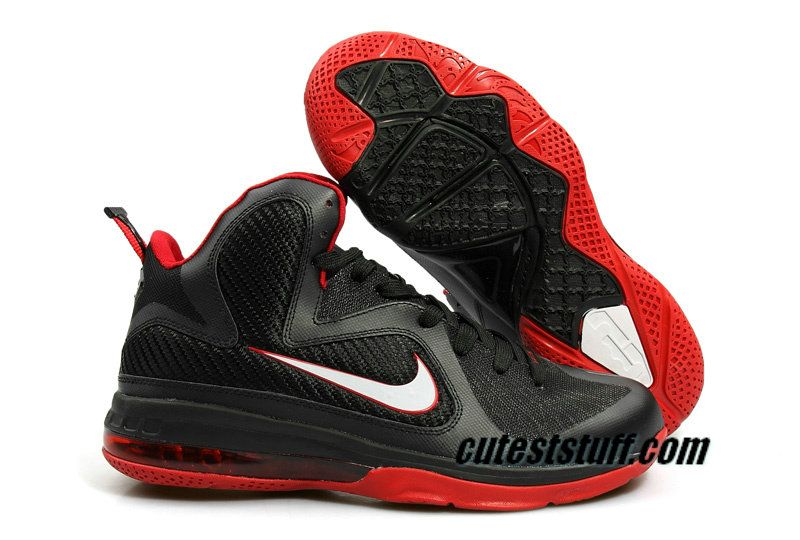 Nike Cheap Lebron shoes 2012 Lebron 9 Black Varsity Red 469764 003 half off