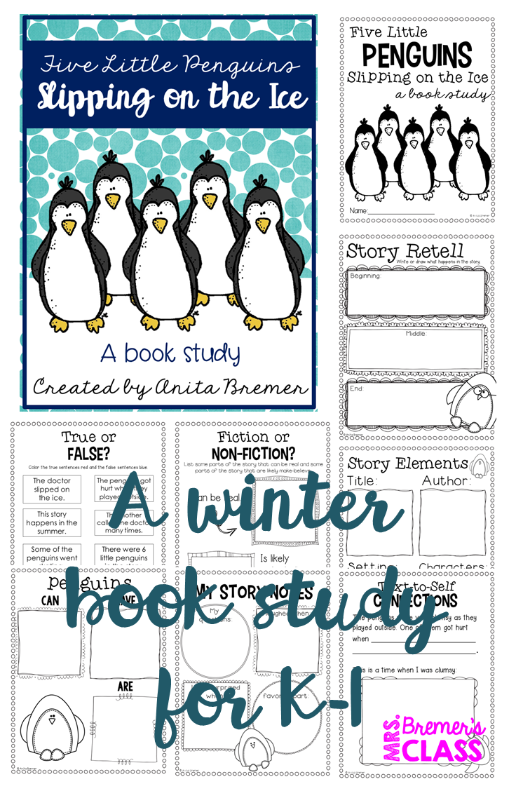 Book Club Week 16: Five LIttle Penguins Slipping on the Ice