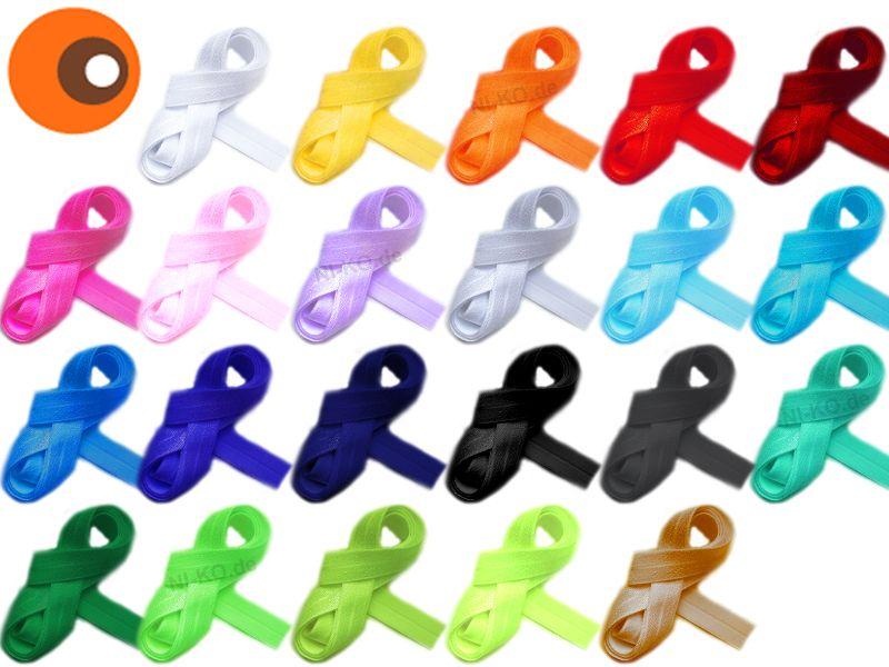 Elastik- & Gummiband - 5 m Falzgummi, elastisch, Gummiband für Haargummis - ein Designerstück von NI-KO bei DaWanda