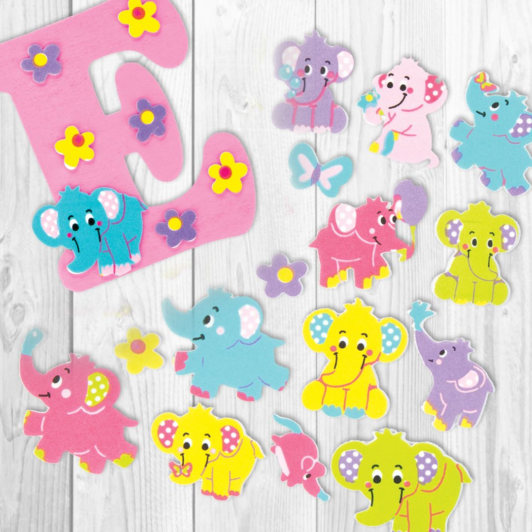 50 Pack Assorted Bugs Foam Stickers Self Adhesive Kids Art Craft
