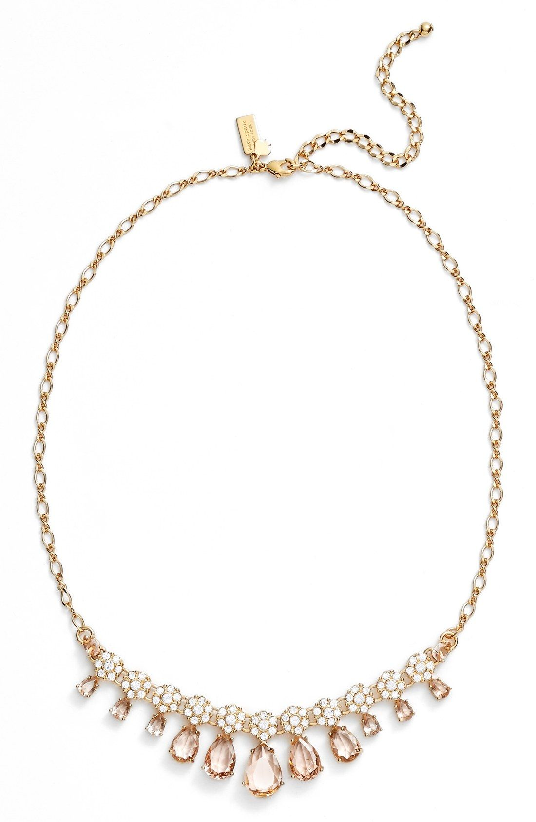 kate spade new york at first blush frontal necklace Bling