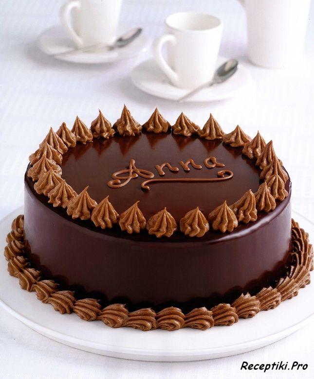 Картинки как украсить шоколадный торт