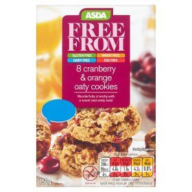 Asda Free From 8 Cranberry Orange Oaty Cookies 1 30 Few