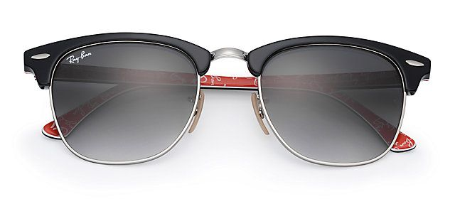 Ray-Ban RB3016 101671 49-21 CLUBMASTER at Collection Black sunglasses | Official Online Store US