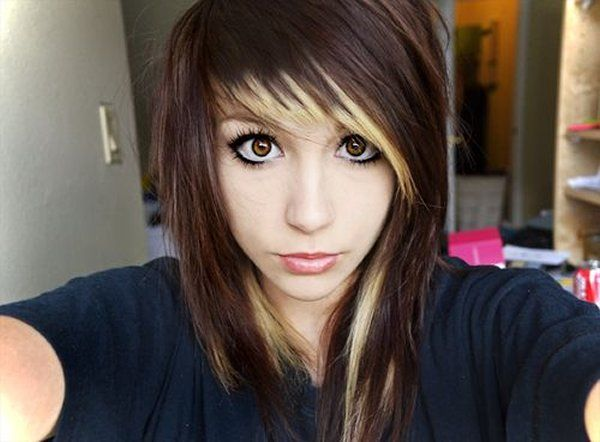 10 Beautiful Emo Hairstyles For Girls Medium Brown