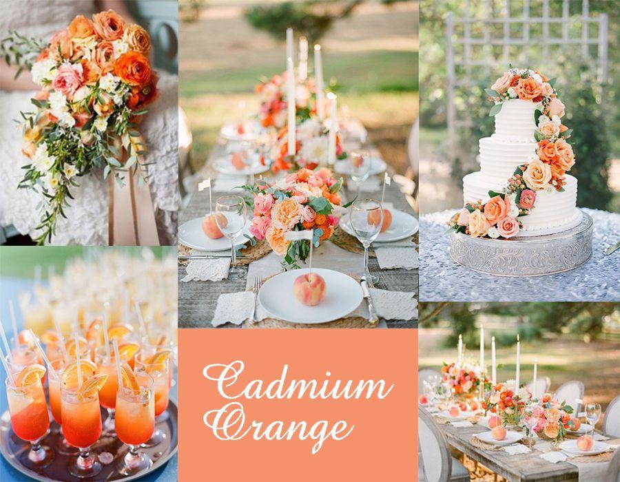 Wedding Decor Wednesdays w/ Pantone's Cadmium Orange. Follow blog @ originalopulence.com for unique ideas for your wedding day! #pantone #cadmiumorange #orangewedding #weddingdecor #orangedecor #summerwedding #springwedding #fallwedding #pantonecadmiumorange